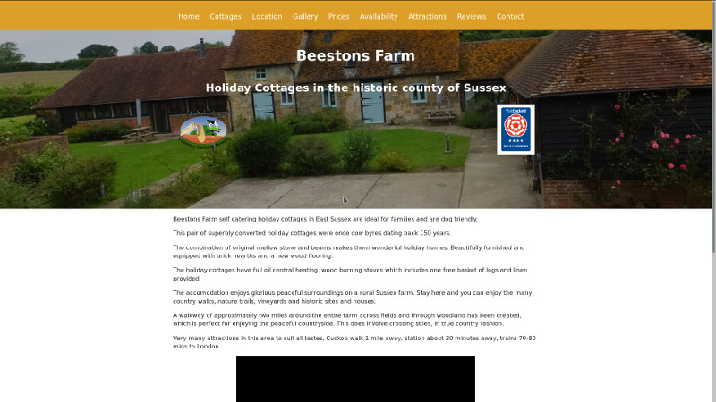 Beestons Farm website