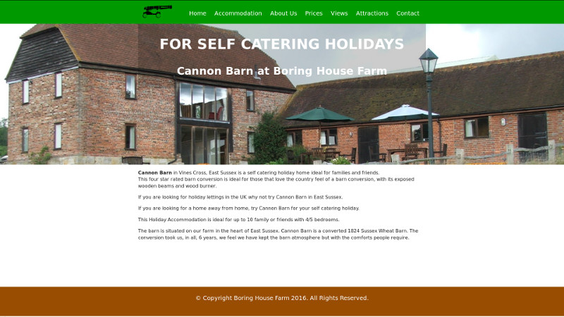 Boring House Farm website